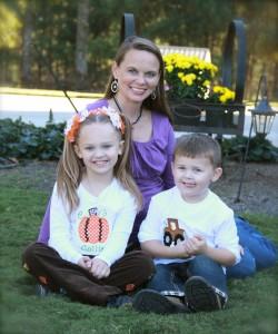 Melissa Christian with Callie and Wyatt